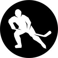 Наклейка Хоккеист круглая, фото 1
