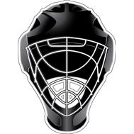 Наклейка Шлем вратаря, фото 1