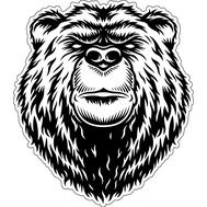 Наклейка Медведь, фото 1