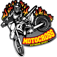 Наклейка Motocross Extreme, фото 1
