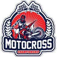 Наклейка Motocross Championship, фото 1