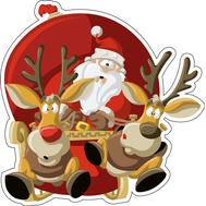 Дед Мороз и Олени, фото 1