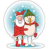 Дед Мороз и Снеговик, фото 1