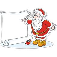 Наклейка Дед Мороз и список желаний, фото 1