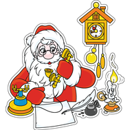 Наклейка Дед Мороз, фото 1