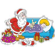 Наклейка Дед Мороз и подарки, фото 1