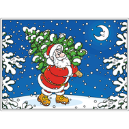 Наклейка Дед Мороз и ёлочка, фото 1