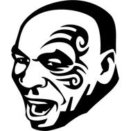 Наклейка Mike Tyson, фото 1