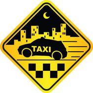 Наклейка Такси, фото 1