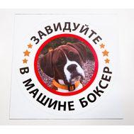 Наклейка В машине боксер, фото 1