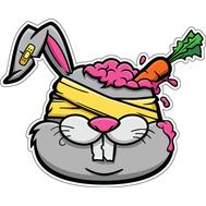 Наклейка Zombie Bunny, фото 1