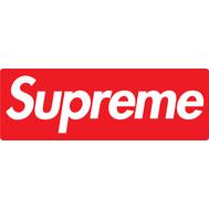 Наклейка Supreme на красном фоне, фото 1