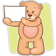 Наклейка Мишка Тедди, фото 1