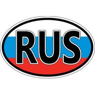 Наклейка RUS, фото 1