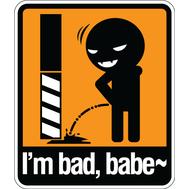 Наклейка I'm bad Babe, фото 1