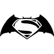 Наклейка Batman vs Superman, фото 1