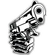 Наклейка The Gun, фото 1