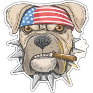 Наклейка Собака с сигарой, фото 1