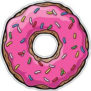 Наклейка Пончик, фото 1