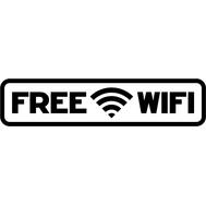 Наклейка Free Wi Fi, фото 1