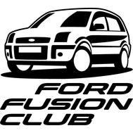 Наклейка Ford Fusion Club, фото 1