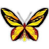 Наклейка Бабочка желтая с черным, фото 1