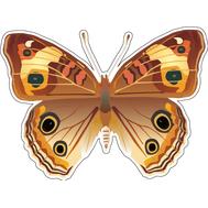 Наклейка Бабочка коричневая с пятнышками, фото 1