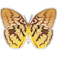 Наклейка Бабочка светло-коричневая, фото 1