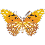 Наклейка Бабочка оранжевая, фото 1