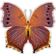 Наклейка Бабочка фиолетовая, фото 1