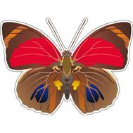 Наклейка Бабочка коричнево-красная, фото 1
