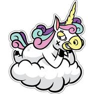 Наклейка Единорог на облаке, фото 1