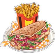 Наклейка Пита с картошкой, фото 1