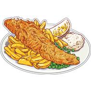 Наклейка Картошка фри с курицей, фото 1