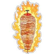 Наклейка Шаурма в огне, фото 1