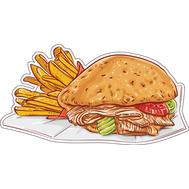 Наклейка Бургер с картошкой фри, фото 1