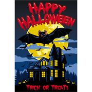 Наклейка Happy Halloween Летучая Мышь, фото 1