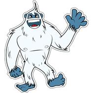 Наклейка Снежный человек, фото 1