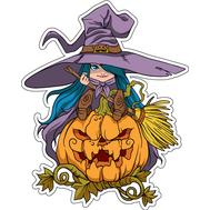 Наклейка Девочка Ведьма, фото 1