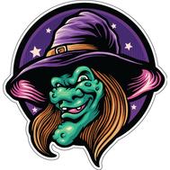 Наклейка Старуха Ведьма, фото 1