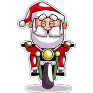 Наклейка Санта на мопеде, фото 1