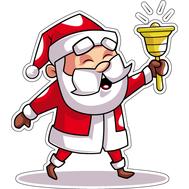Наклейка Санта звонит в колокольчик, фото 1
