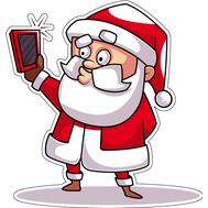 Наклейка Санта делает селфи, фото 1