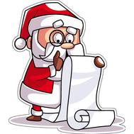 Наклейка Санта читает список, фото 1