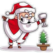 Наклейка Санта и елочка, фото 1