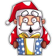 Наклейка Санта и подарок, фото 1