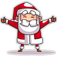 Наклейка Санта иди обниму, фото 1