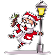 Наклейка Подвыпивший Санта, фото 1