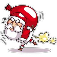 Наклейка Санта на реактивной тяге, фото 1