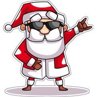 Наклейка Санта рокер, фото 1
